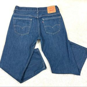 Levi's 569 Loose Straight Denim Dark Wash Jeans